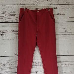 Red Ankle Slacks